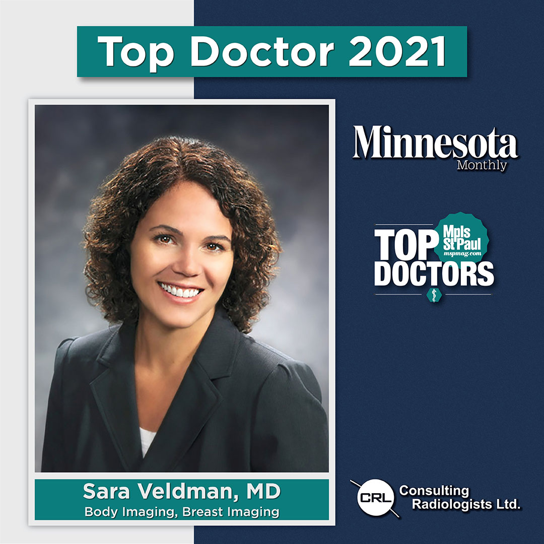 Dr. Sara Veldman Minnesota Monthly 2021 Top Doctor